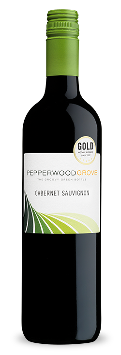Pepperwood Grove Cabernet Sauvignon in a bottle